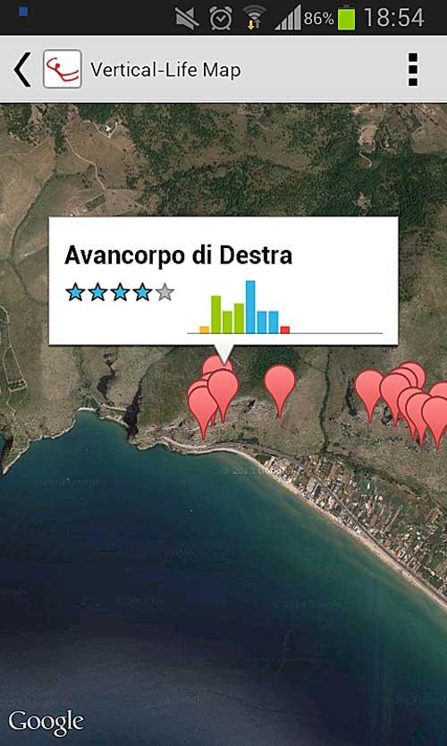 Mapa v provedení pro Android