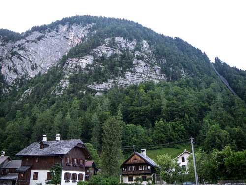 Kletersteig Echernwand - Stěna Echernwand nad Hallstattem