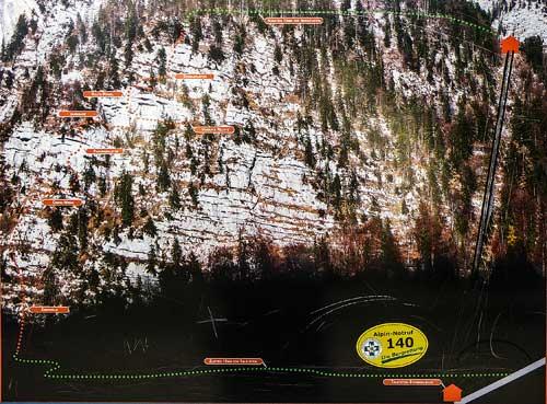 Kletersteig Echernwand - Popis cesty