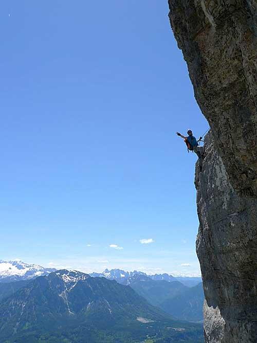 Kletersteig Echernwand - D-čkové místo prověří fyzičku i psychičku