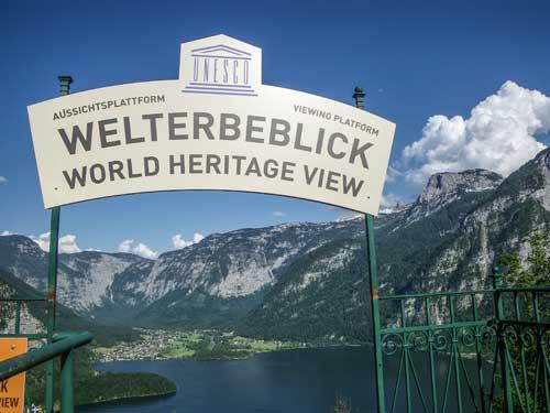Kletersteig Echernwand - Světový pohled od horní stanice lanovky