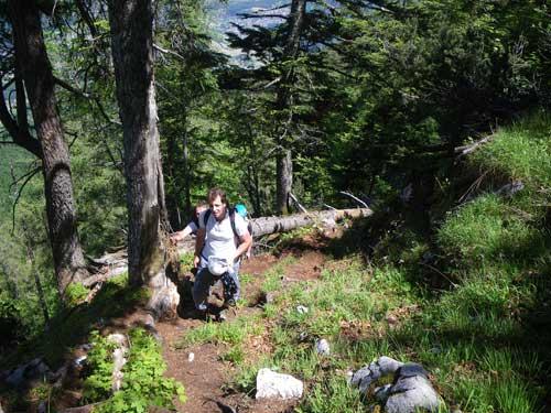 Klettersteig Katrin - Ještě kousek lesní cestou