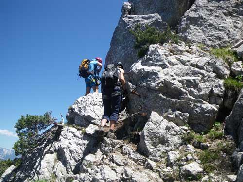 Klettersteig Katrin - Nástupové skalky