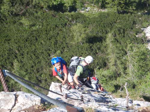 Klettersteig Katrin - Cestu zvládnou i šikovné děti