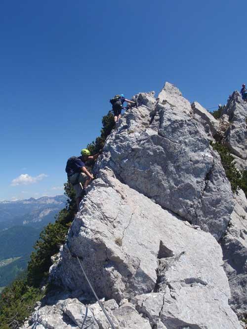 Klettersteig Katrin - Poslední hřebínek