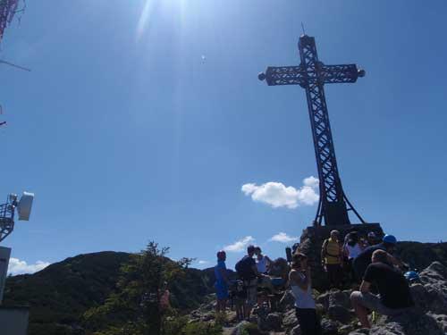 Klettersteig Katrin - Mísíme se s turisty u Franz Josef Kreutz