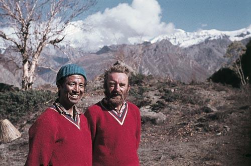 Z vrcholu Annapúrny IV, Ang Babu a Miloš Albrecht