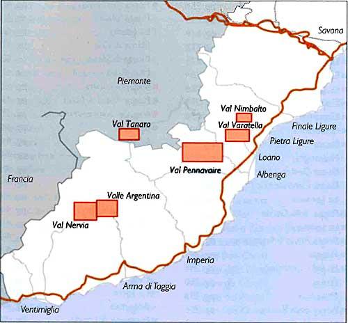 Mapka oblastí