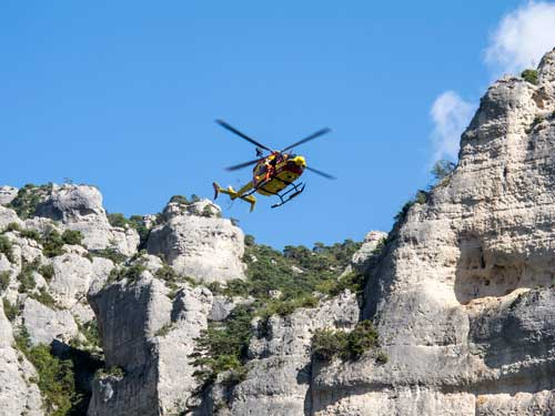 Vrtulník odlétá