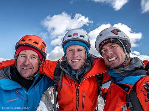 Na vrcholu: Dres Abegglen, Stephan Siegrist, Thomas Senf (zleva).