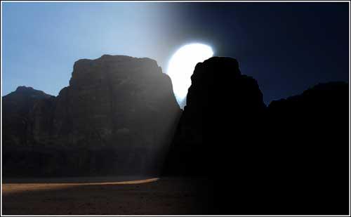 ráno v poušti