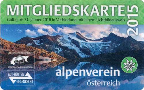 Průkaz Alpenverein 2015