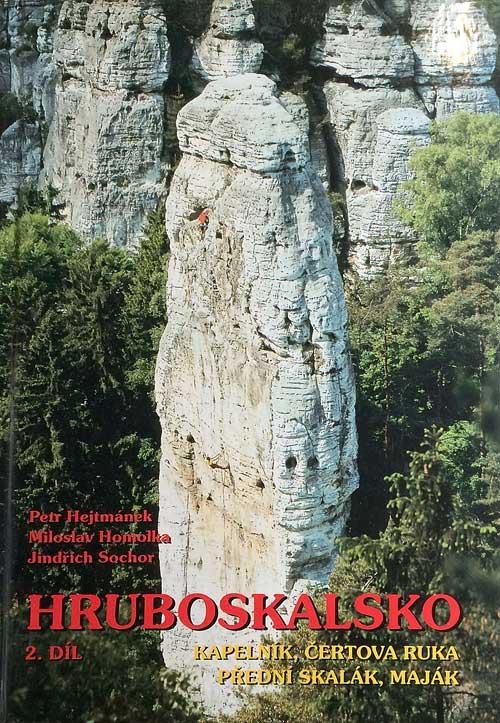 Kapelník na obálce horolezeckého průvodce. Jeschkeho cesta vede vpravo. než přejde celou údolní stěnu doleva.