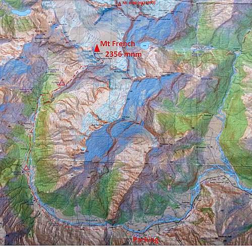 Cesta údolím k úpatí je cca 20km