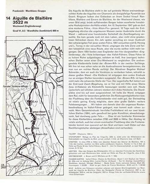 Extremen Fels - schéma a historie cesty