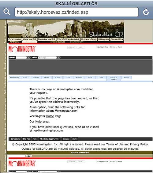 Skalní oblasti, pokusy s reklamou, 10. 10. 2008