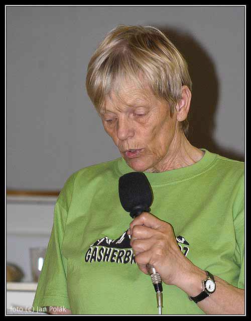 Marie Brůžková na Valné hromadě ČHS v roce 2008
