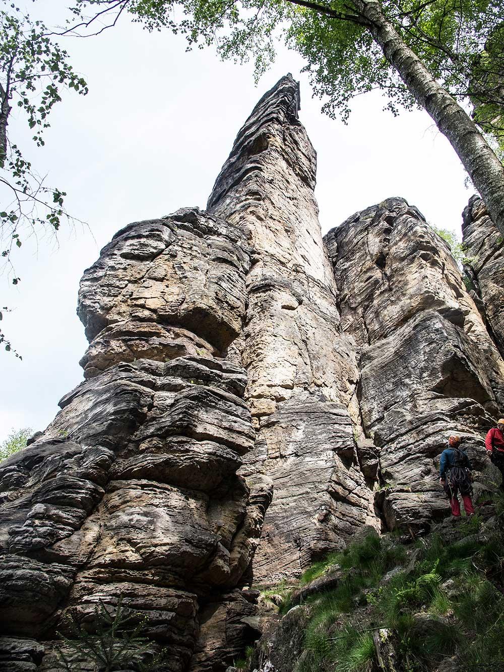 Dürrebielenadel, jižní kout a JV stěna