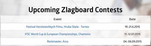 Kalendář závodů Zlagboard contest