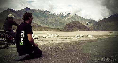 Natáčení leteckých záběrů dronem