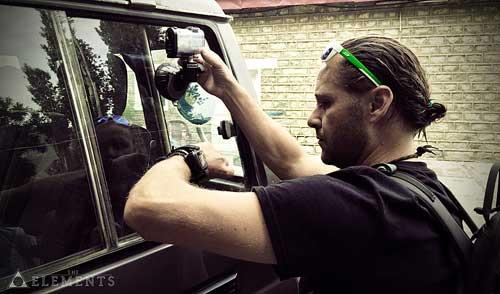 Natáčení z okna auta kamerou Sony Action Cam