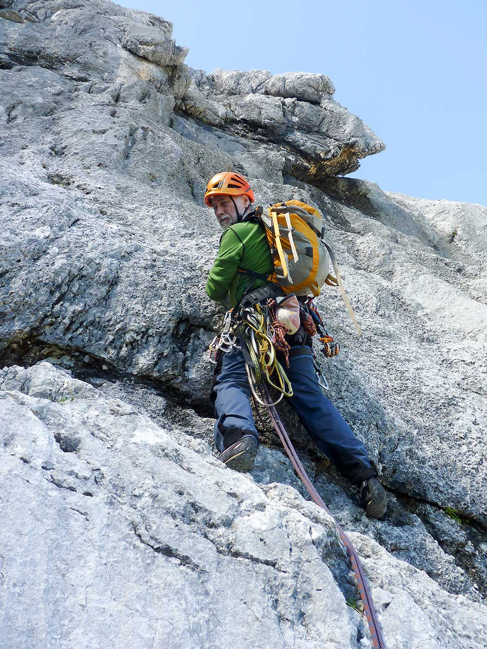Alpspitze,Heimweh, 1. délka 5+