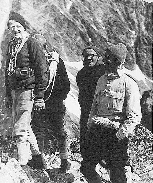Voloďa Suchý uprostřed při návštěvě Johna Hunta v Tatrách