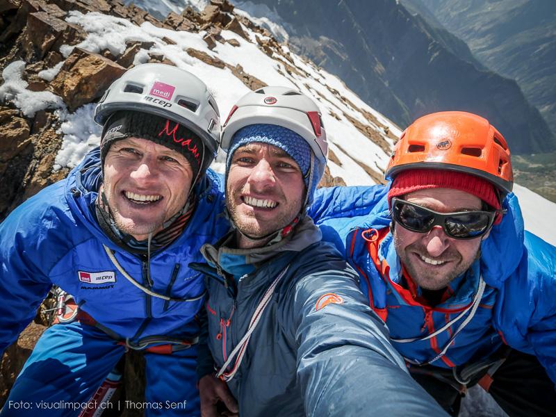 Stephan Siegrist, Thomas Senf a Dres Abegglen na vrcholu Bhala