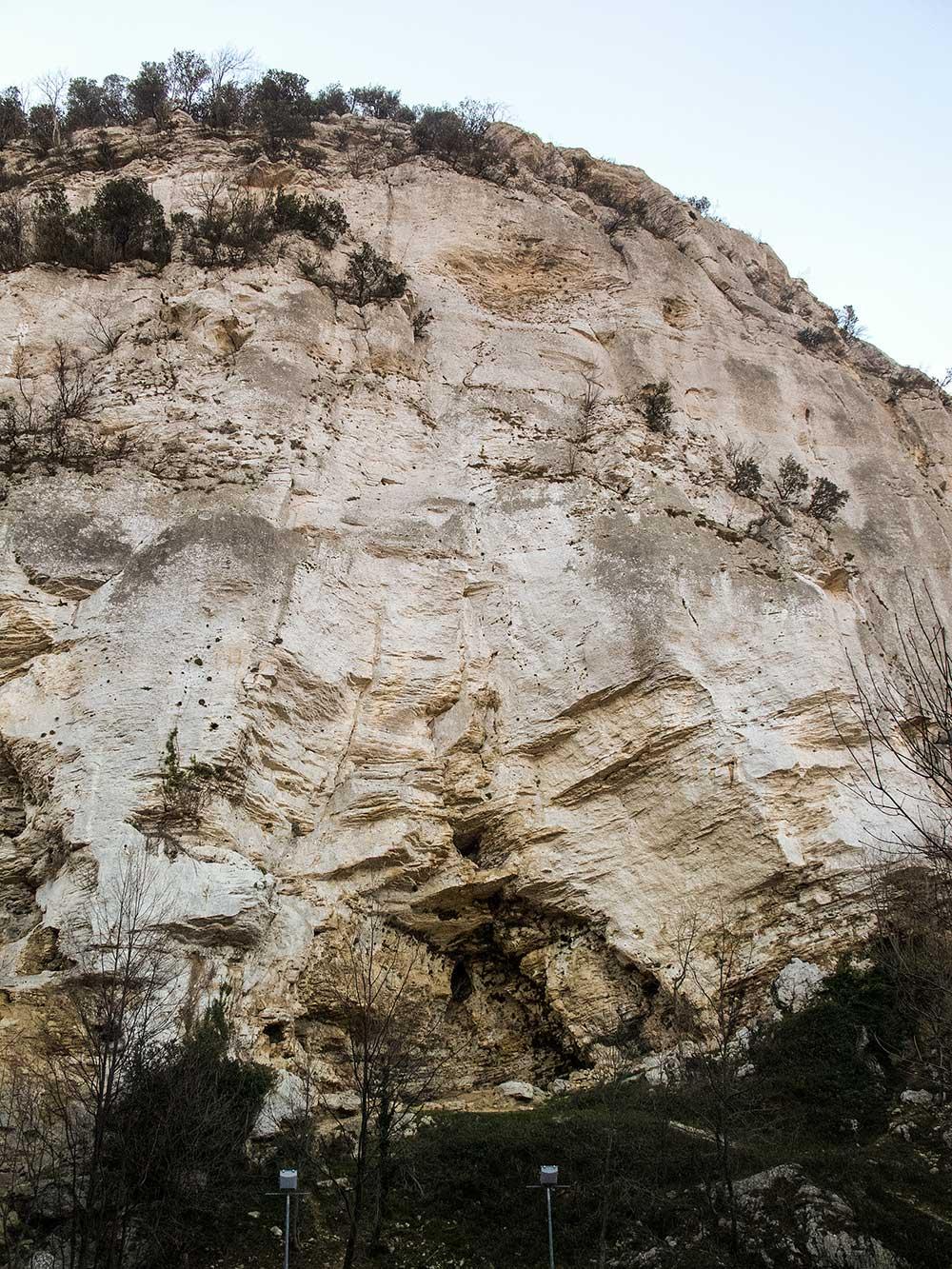 Severní část stěna Monte Cucco