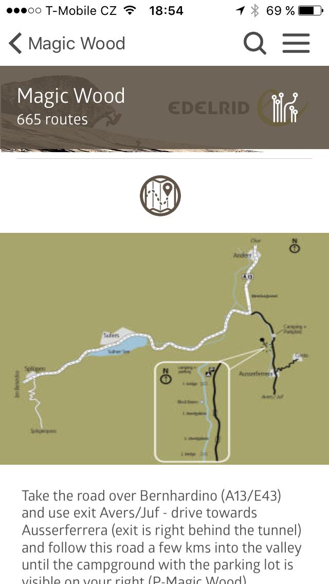 Přístupová mapka