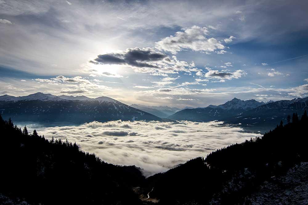 Inverze nad Innsbruckem, leden 2014