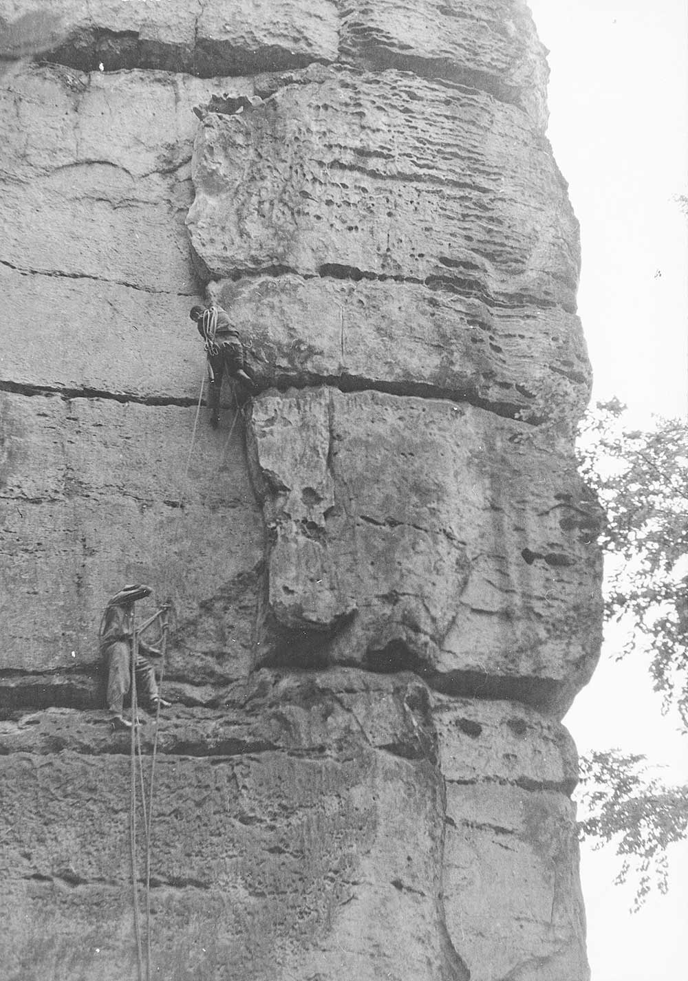 Basteischluchtturm 1961: V nejtěžší stěně Rathenu předvedl husarský kousek: vynechal třikrát stavění