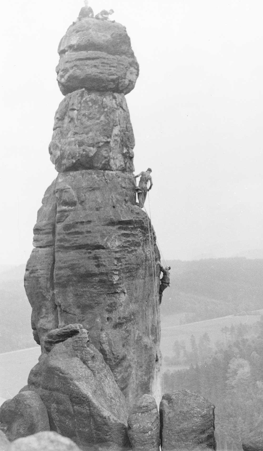 Údolní Barberina, Pfaffenstein, Joska s Frantou 1960