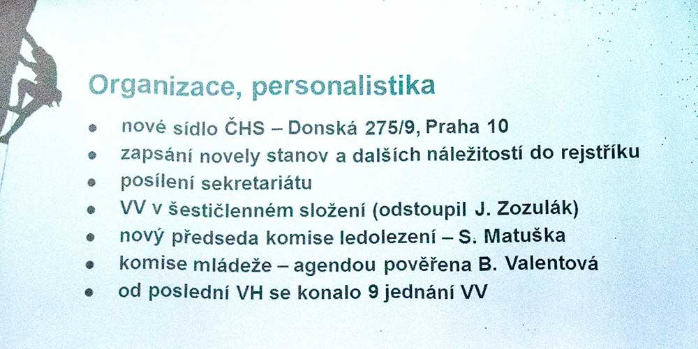 Zpráva o činnosti 1 - organizace a personalistika