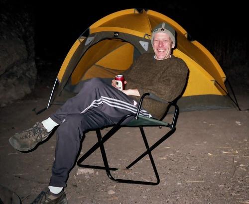 Recesista Allen s hvězdou na čele, Penitente Canyon, Colorado 2003