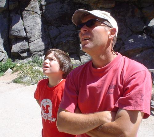 Allen se synovcem Ethanem, Boulder Canyon, Colorado 2007