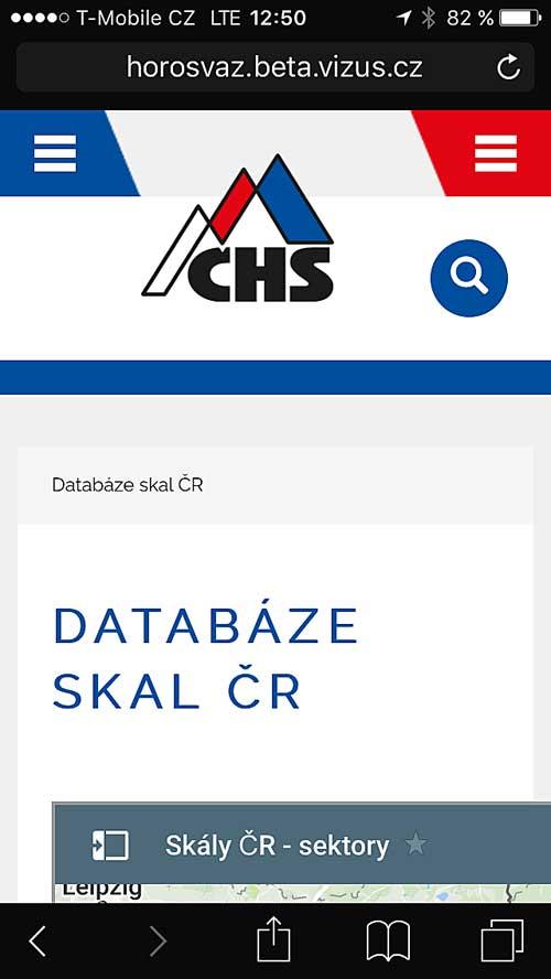 Databáze skal na mobilu