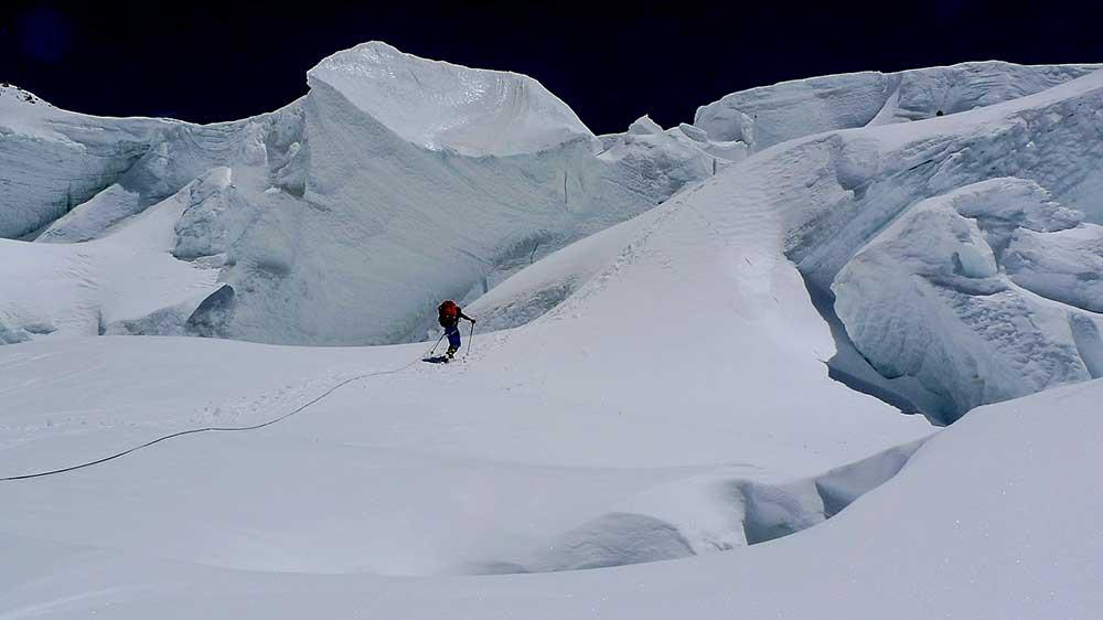 Séraky pod sedlem Gasherbrum La.