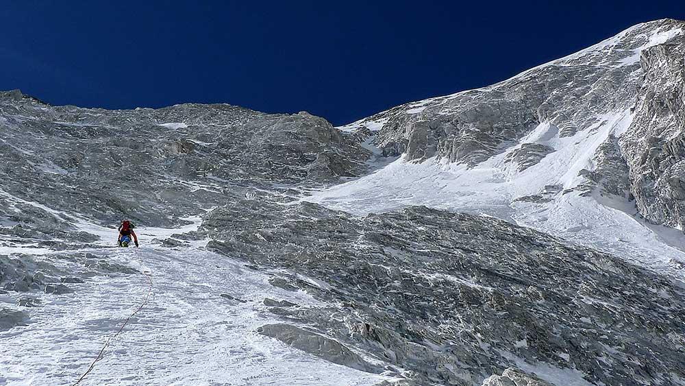 Japonský kuloár a základní škola lezení v horském terénu…