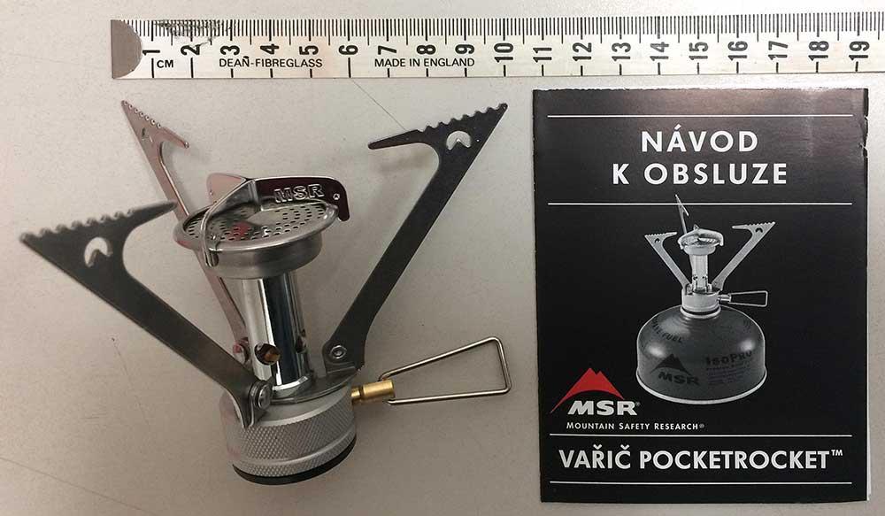 MSR Pocket Rocket - s českou příručkou
