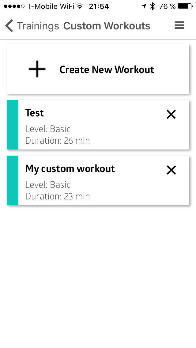 Vlastní workouty