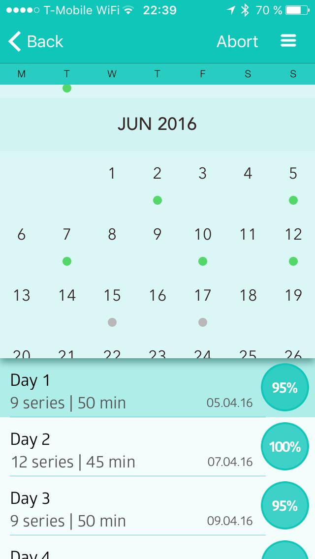 Kalendář tréninků