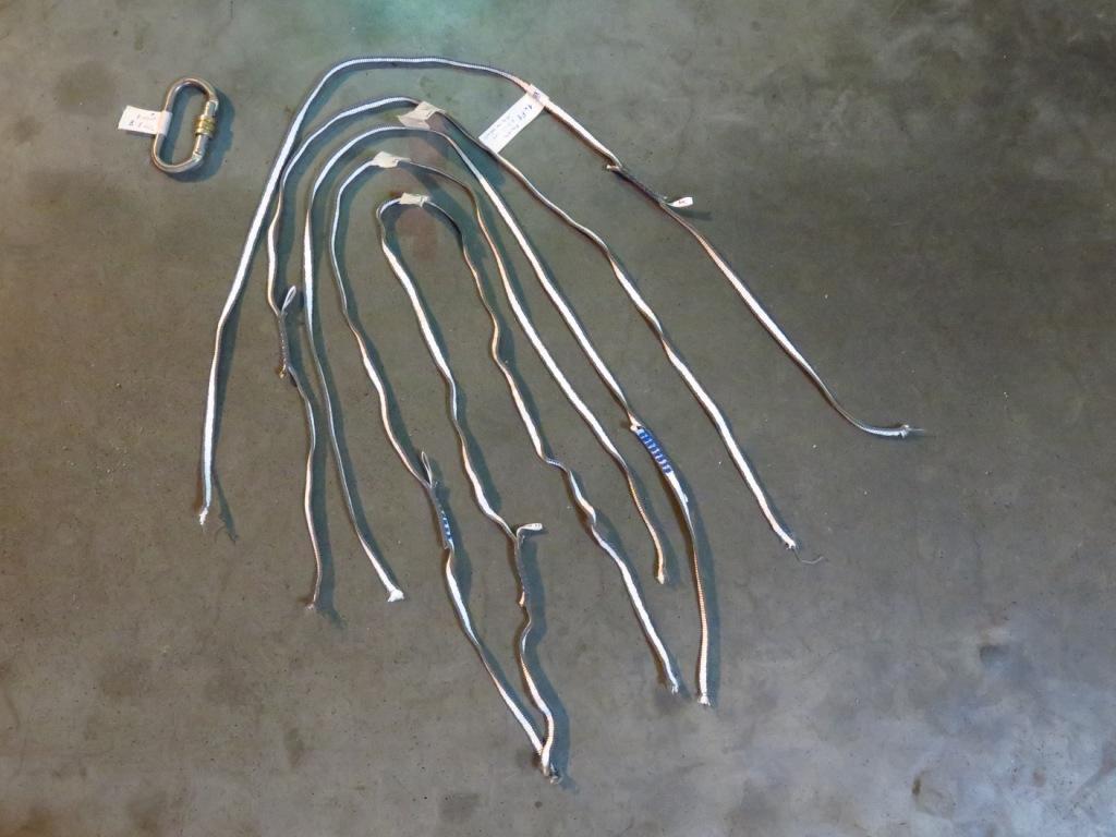 Dyneema smycky jsou velm i nebezpečné, k jejich přetržení dojde už při prvním pádu a padovém faktoru 1