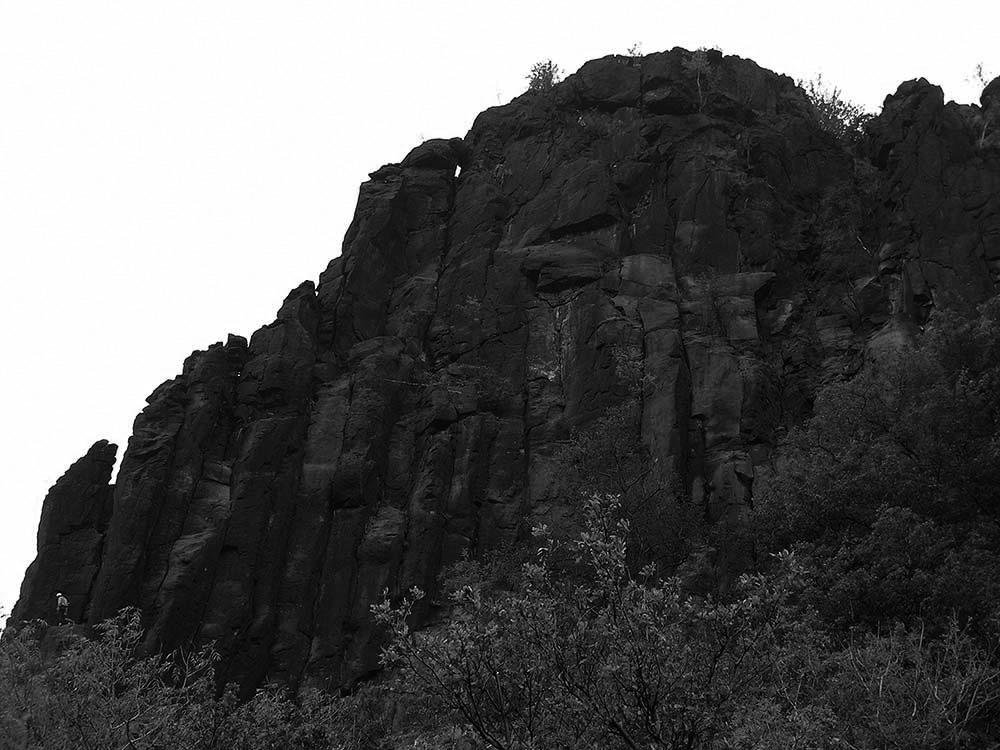 Severní stěna Bořně, střední a horní část Severní hřebenovky