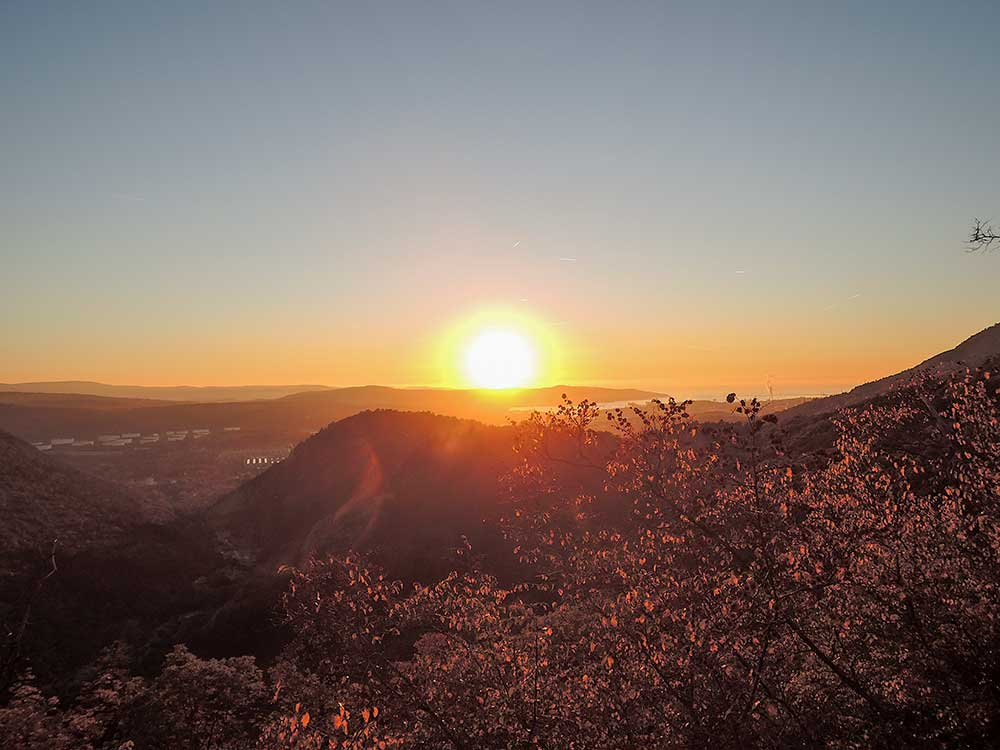 Západ slunce na Terstem