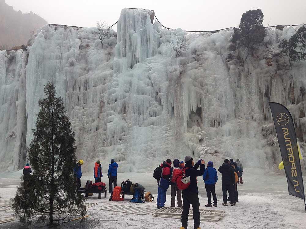 Ledová stěna v Pekingu