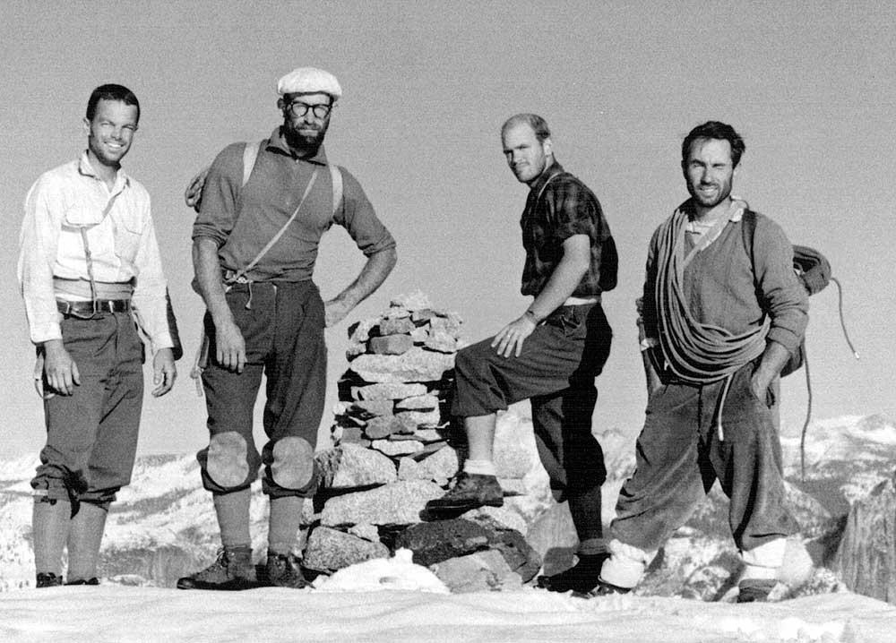 Frost, Robbins, Pratt a Chouinard po desetidenním prvovýstupu North America Wall na El Capa