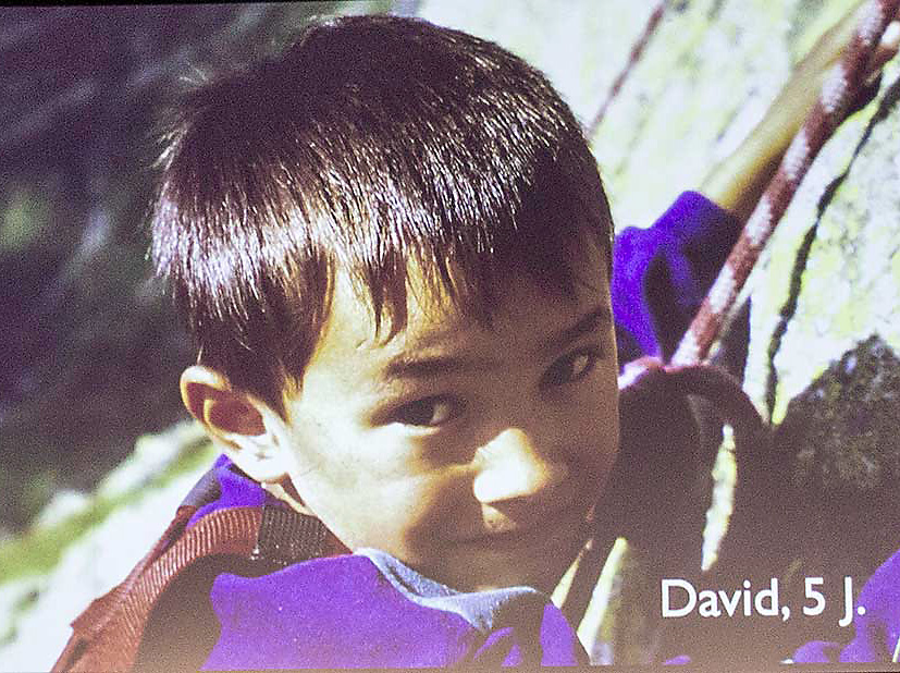 Pětiletý David Lama