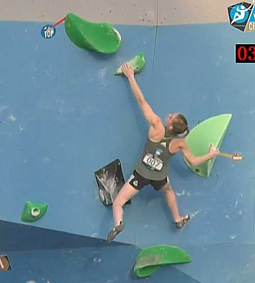 W1: jediná Janja Garnbret udržela sklopan.
