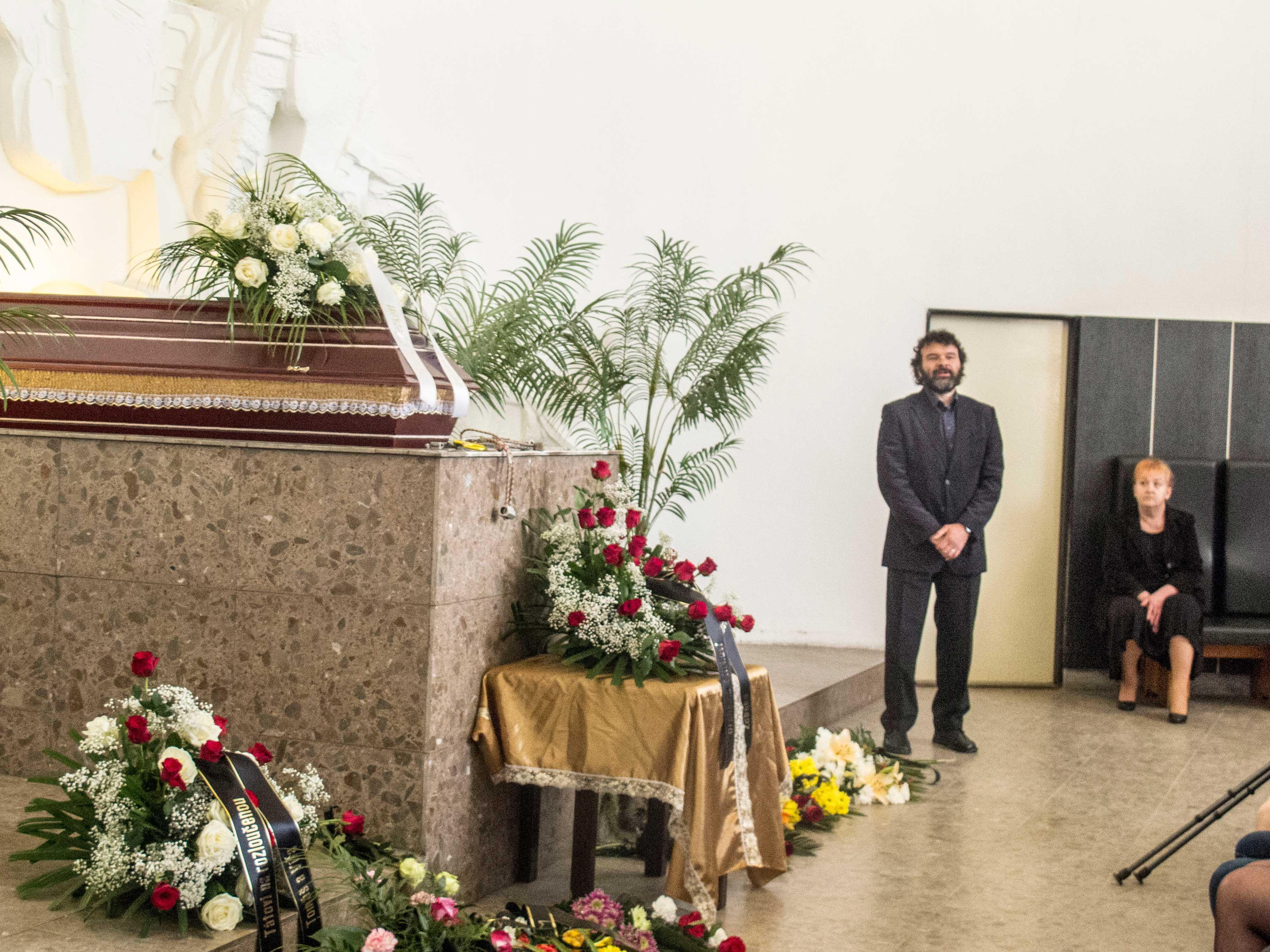 Pohřeb Mirka Dřízy